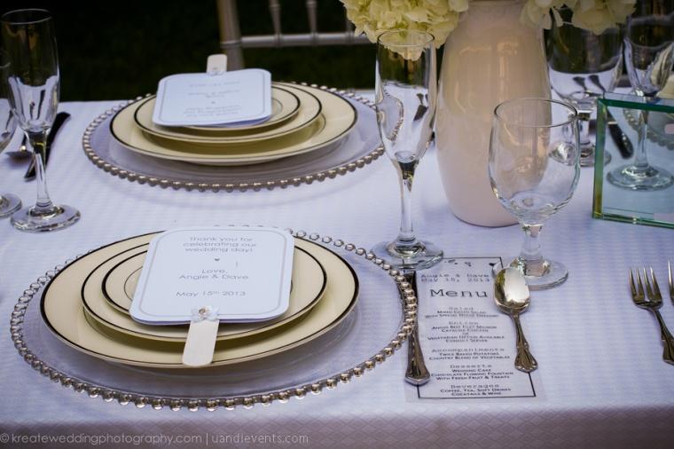all white outdoor wedding decor