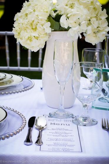 transparent wedding menu card