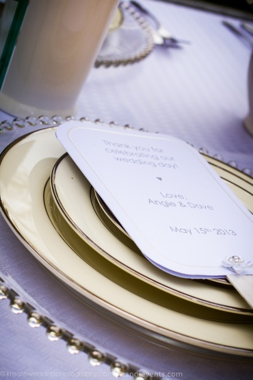 all white wedding place setting