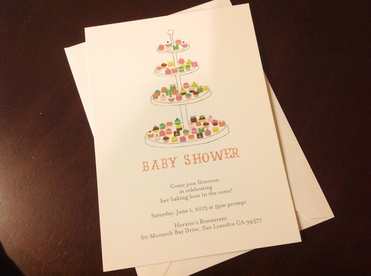 baking theme baby shower invitation