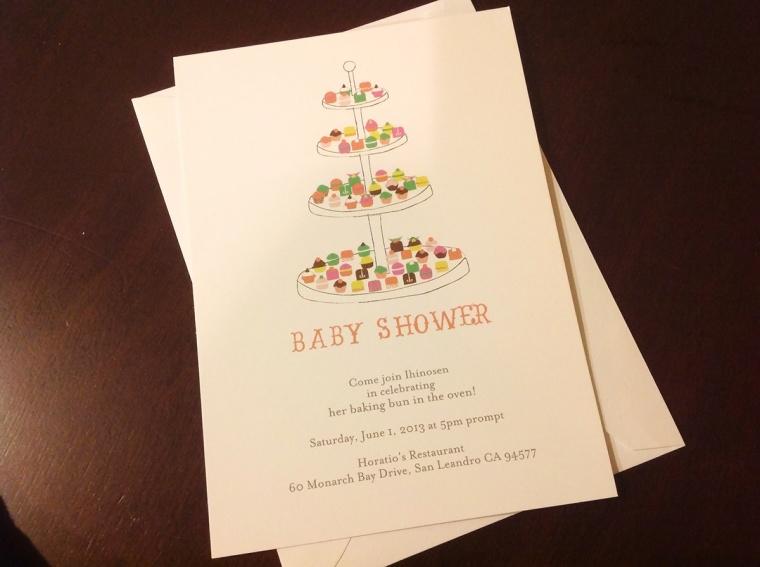 baking theme baby shower invitation