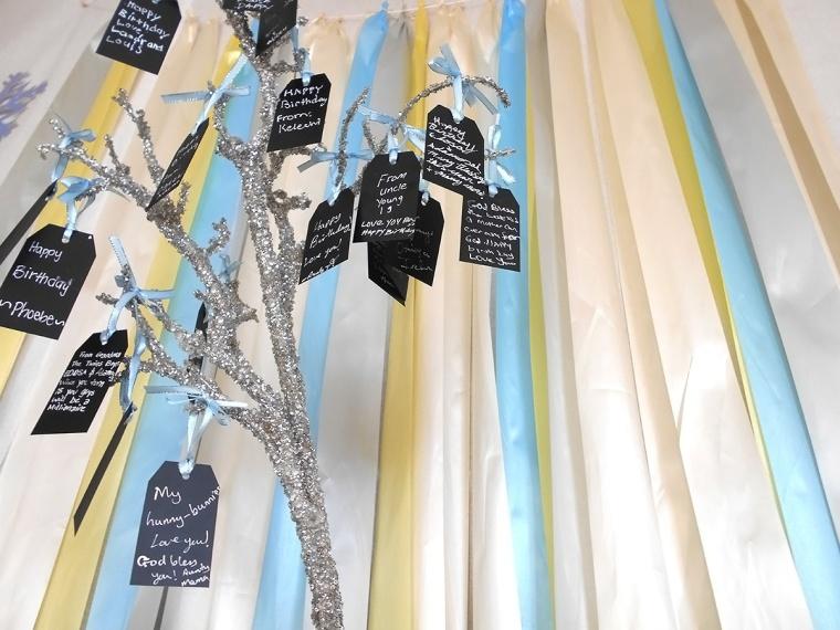 sparkly wishing tree ribbon curtain