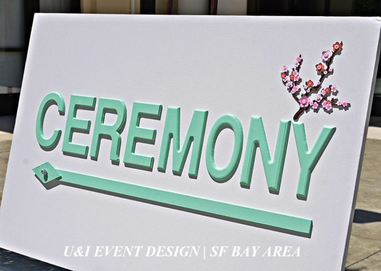 bay area wedding ceremony sign