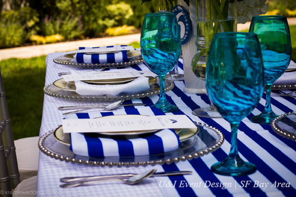 nautical blue white stripes wedding inspiration