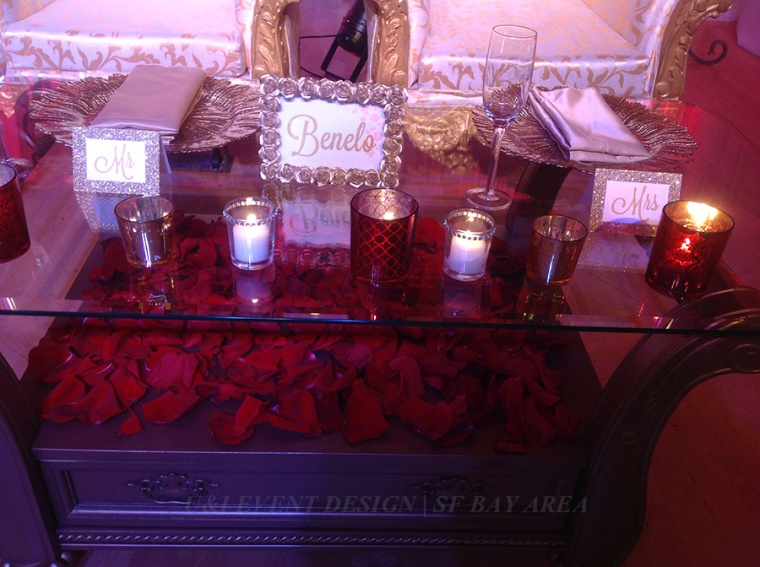 red gold sweetheart table decor_bay area wedding venue_milpitas