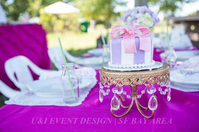 gold crystal vintage smash cake stand_oakland bakery