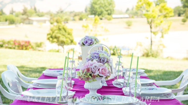 outdoor shabby chic vintage birthday table decor idea_quarry lakes park_ east bay event planner