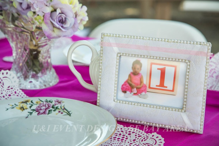 shabby chic girl birthday picture frame centerpiece_fremont park