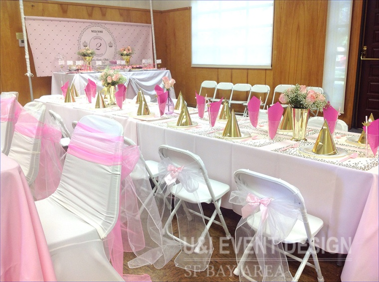 pink gold kids party decor bay area event planner