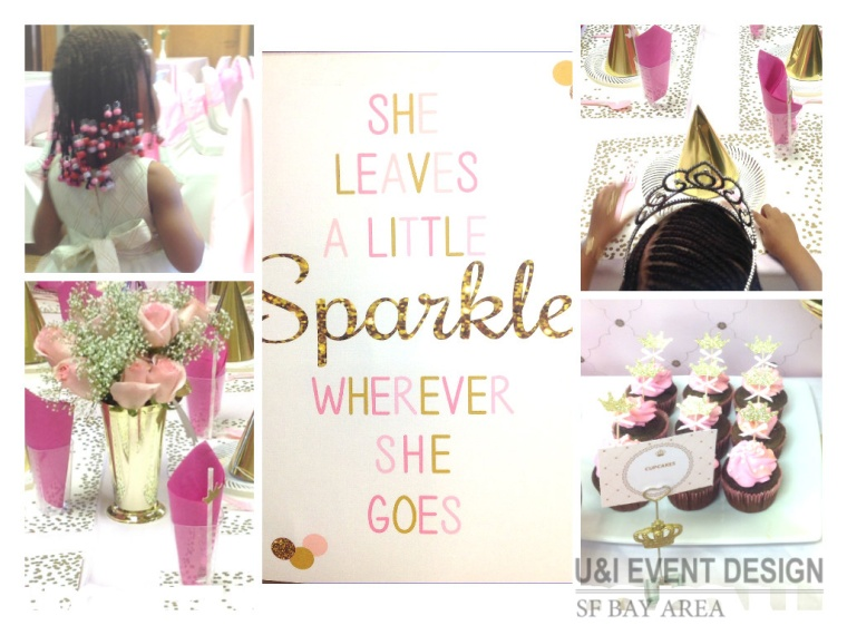 pink gold princess party ideas