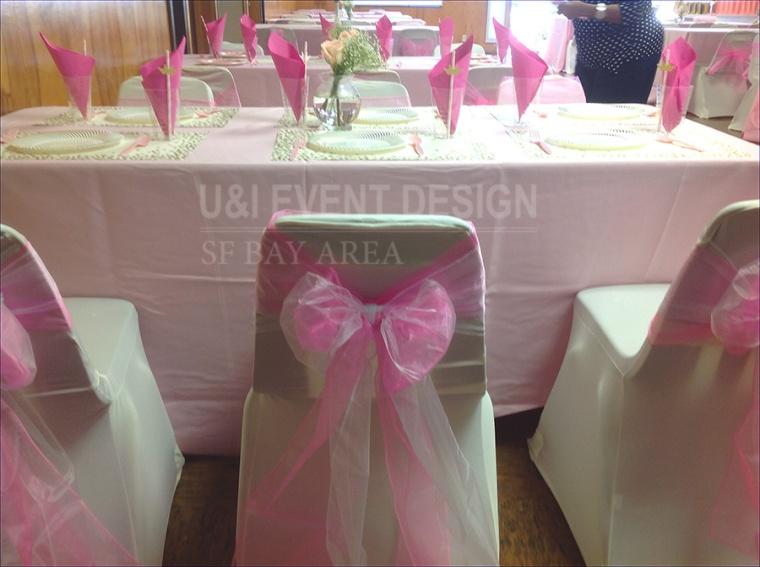 pink princess party chair sash bay area
