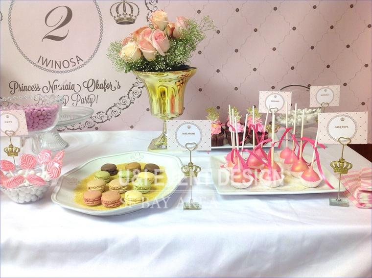 royal crown dessert sign card holder_cakepops_french macarons