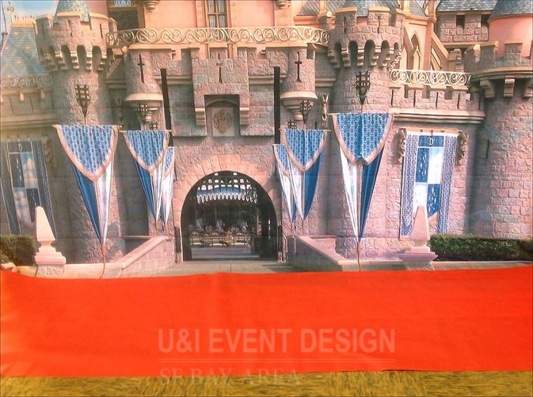 royal theme birthday castle background red carpet
