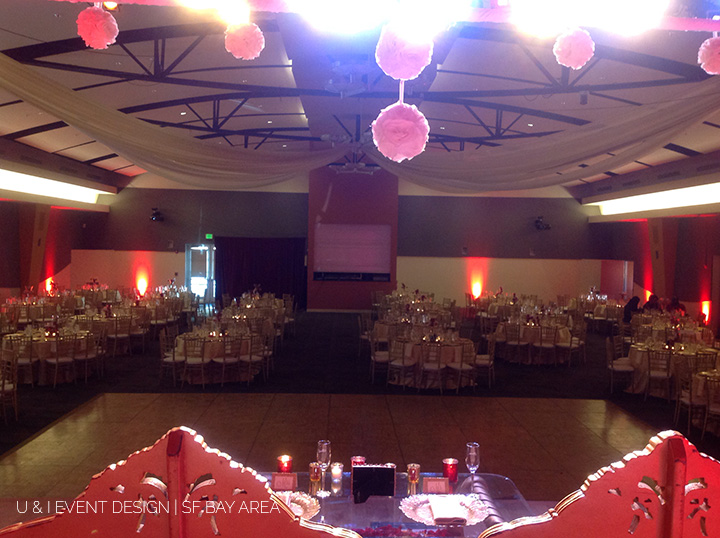 bay area wedding reception hall decoration