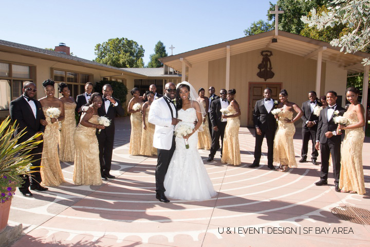 bridal party portrait_nigerian wedding planner california