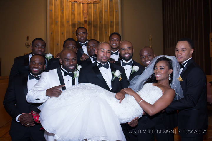 bridal party pose_bay area wedding photography