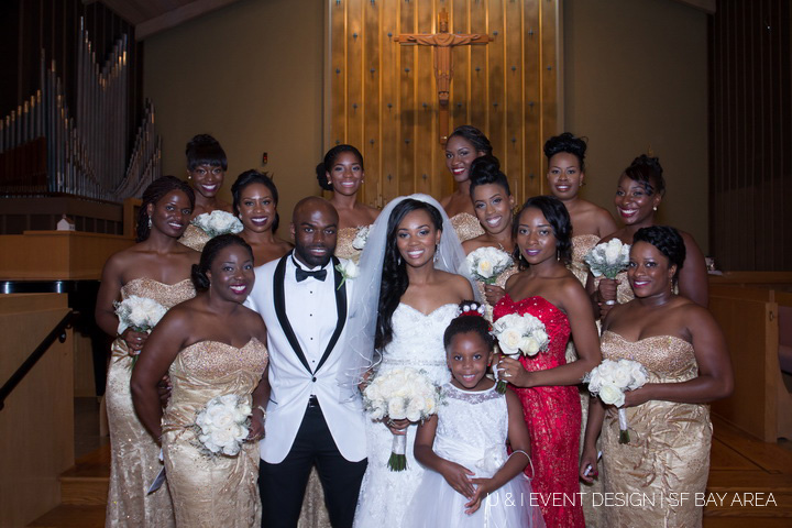 bridal party pose_south bay wedding