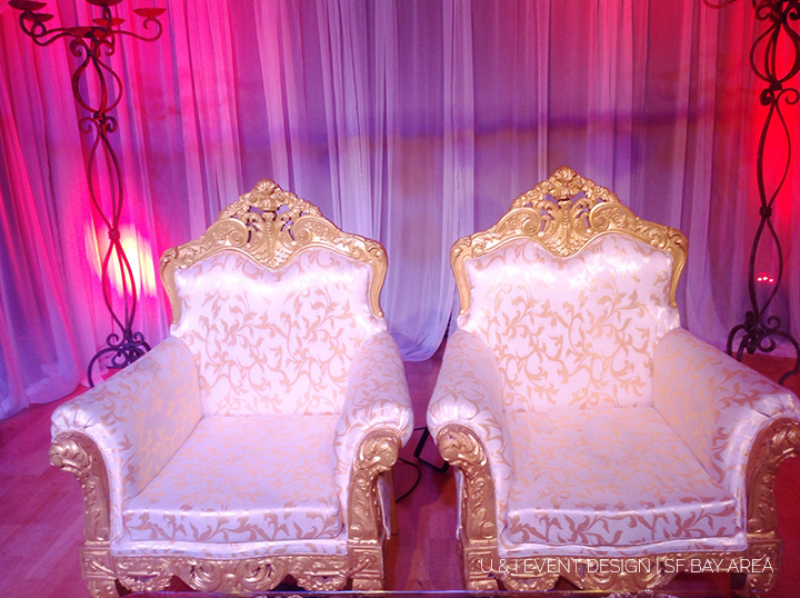 gold wedding chair_bay area rental