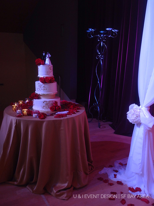 san jose wedding cake table