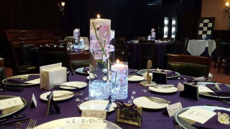 reception decor by bay area wedding planner at Harris Restaurant San Francisco