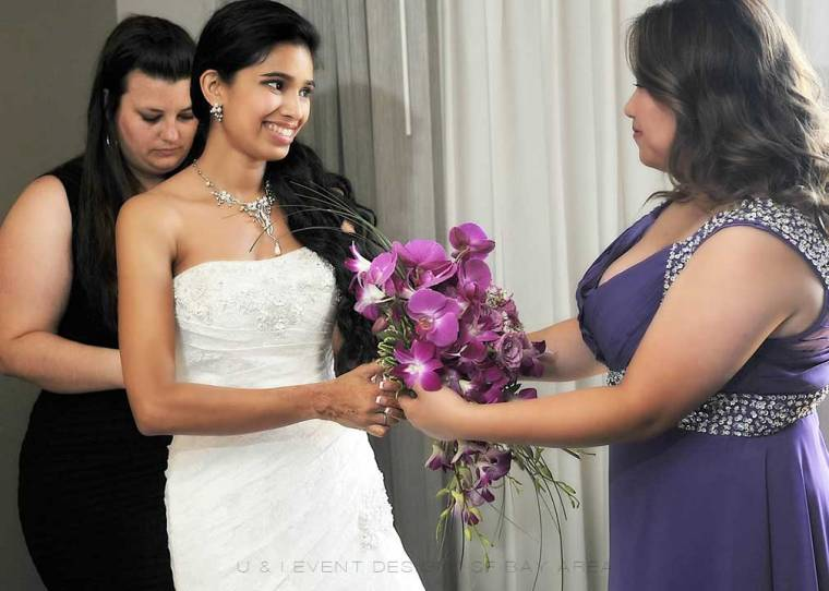 bride receives wedding bouquet by san francisco bay area florist