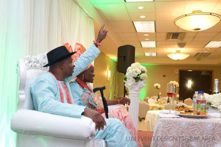 african bride and groom in california by nigerian wedding planner