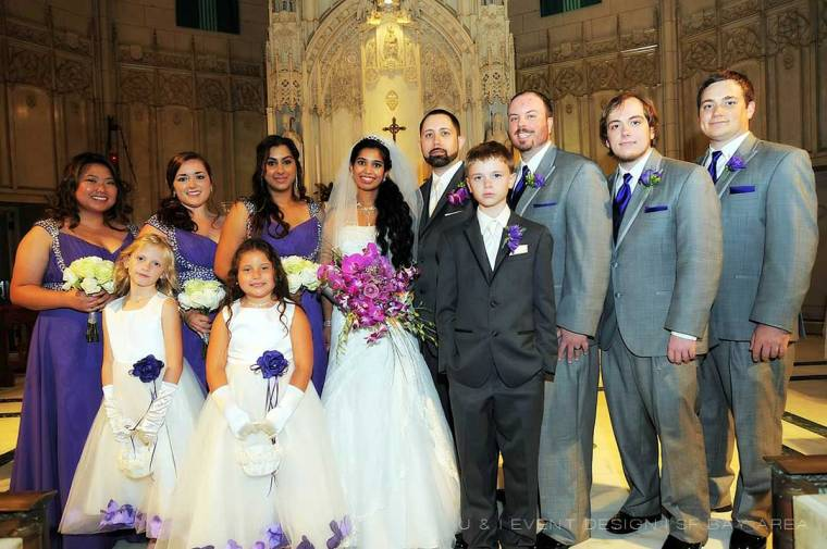 bridal party at wedding planned by san francisco bay area planner