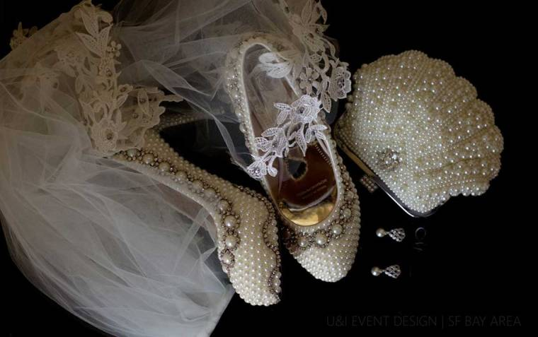 bridal accessories shot by walnut creek wedding photographer